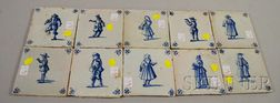 Ten Dutch Delft Tiles